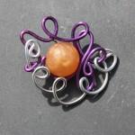 violet gris perle orange
