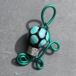 perle noire turquoise