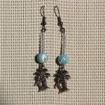 perle bleue et palmier