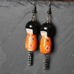 boucles kokeshi orange