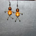 boucles poupée orange