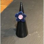 bague céramique bleue