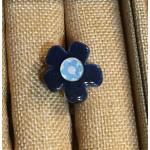 bague céramique bleue centre bleu